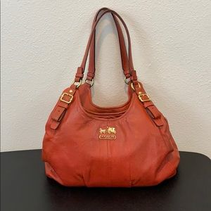 Coach Leather Bag In Sienna Orange